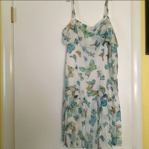 Butterfly Summer Dress Lord Taylor 10 NWT 196$